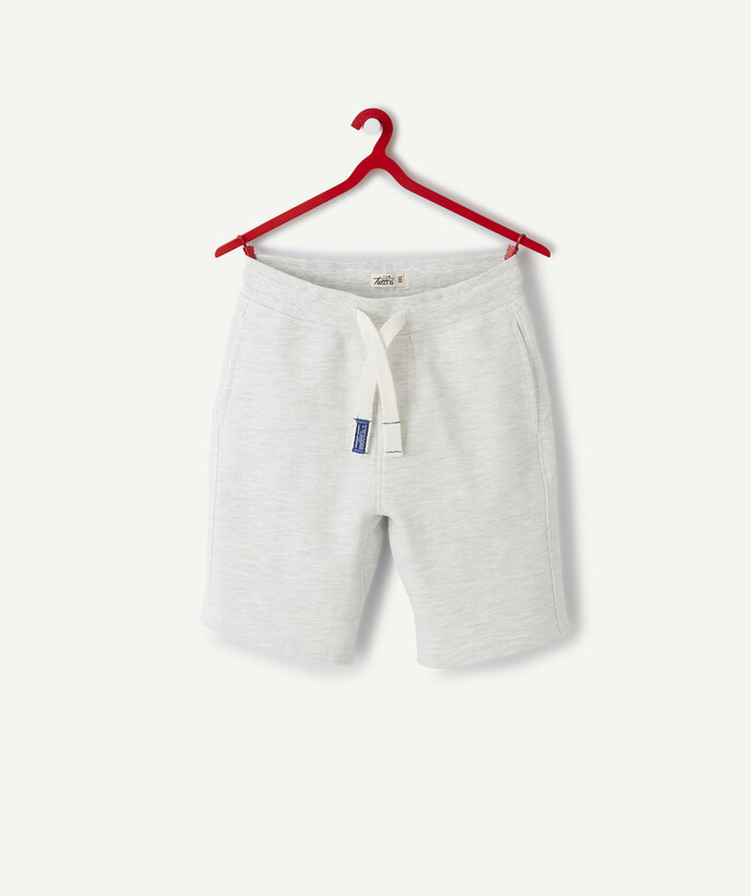 Sportswear Sub radius in - GREY MARL BERMUDA SHORTS WITH POCKETS IN ORGANIC COTTON