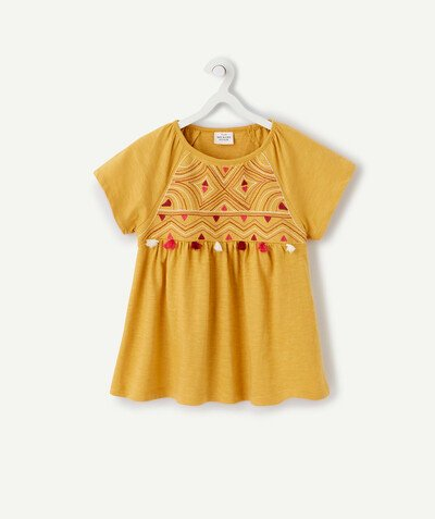 Spring looks ideas radius - ETHNIC MUSTARD DRESS IN ORGANIC COTTON