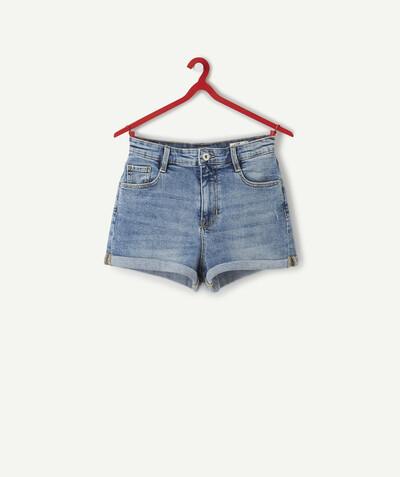 JollyRascals Short en Jean pour b/éb/é Fille 100/% Coton Motif Papillon
