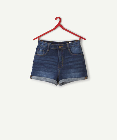Total denim look radius - HIGH-WAISTED SHORTS IN RAW DENIM