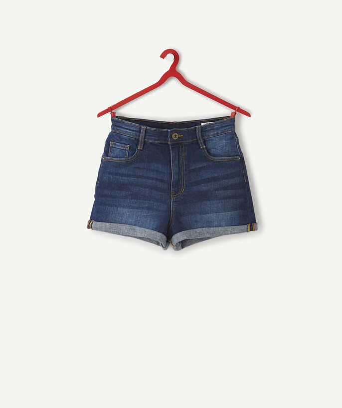 ECODESIGN teen girl Sub radius in - HIGH-WAISTED SHORTS IN RAW DENIM