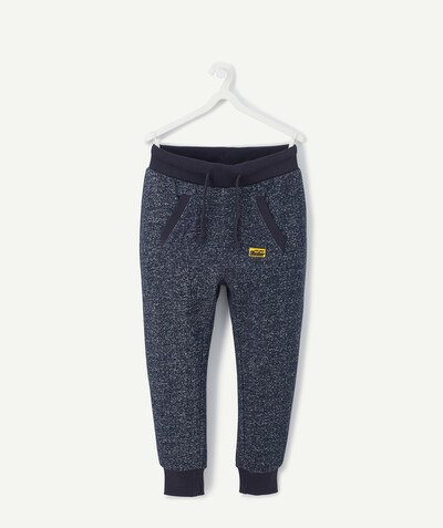 Comfortable fleece radius - NAVY BLUE MARL JOGGING PANTS IN ORGANIC COTTON