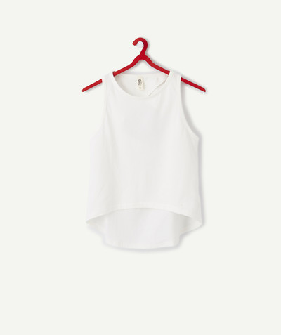 ECODESIGN radius - WHITE BARE-BACK T-SHIRT IN ORGANIC COTTON