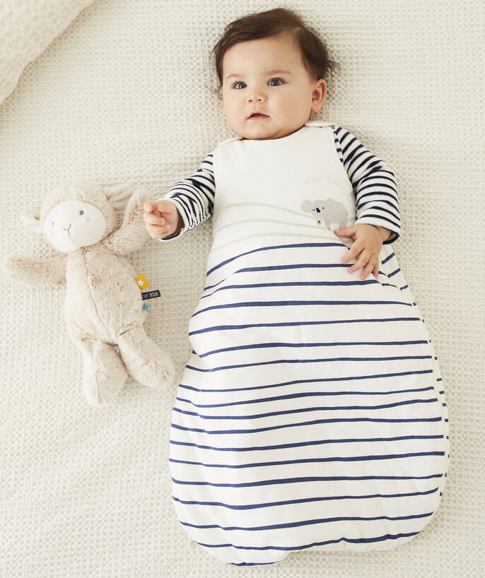 ECODESIGN radius - STRIPED PANDA DESIGN BABY SLEEPING BAG IN ORGANIC COTTON