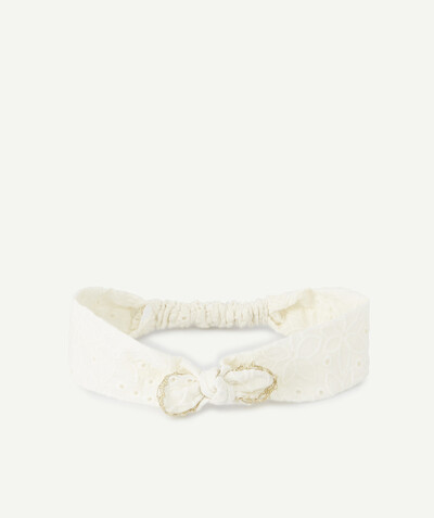 All collection radius - CREAM HAIRBAND WITH A GOLDEN FINISH
