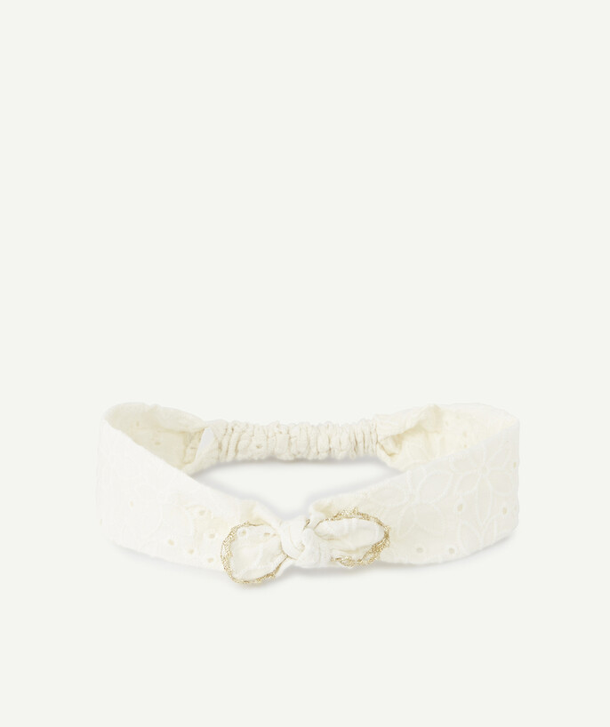 Accessories radius - CREAM HAIRBAND WITH A GOLDEN FINISH