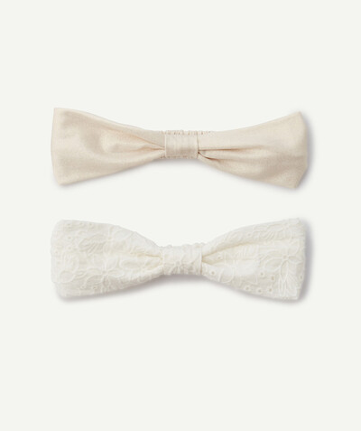 Special occasions' accessories radius - TWO WHITE AND PALE PINK HAIRBANDS