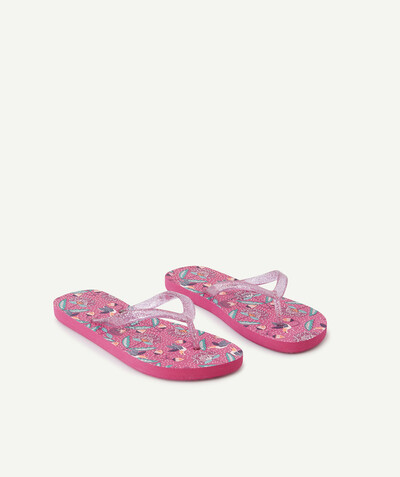 Tongs Rayon - LES TONGS ROSES IMPRIMÉES TROPICAL