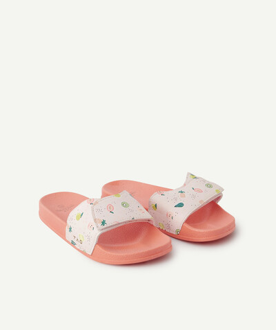 Chaussures, chaussons Rayon - LES CLAQUETTES ROSES AVEC FRUITS