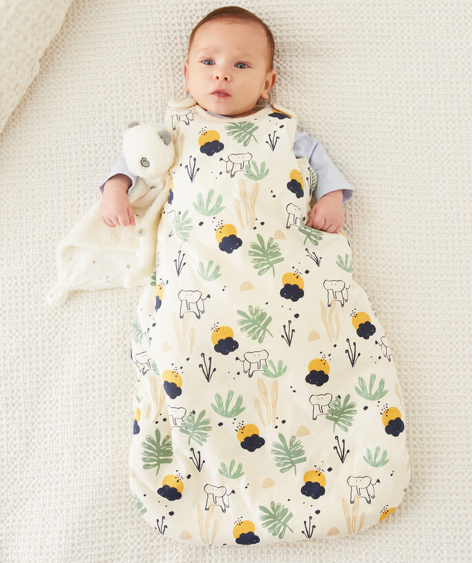 Newborn Boy radius - JUNGLE PRINT BABY SLEEPING BAG IN RECYCLED FIBRES