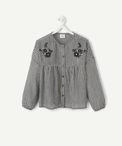 All Collection radius - BLACK AND WHITE GINGHAM BLOUSE