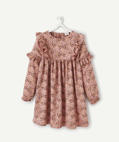 Dress radius - PAISLEY PRINT TERRACOTTA DRESS