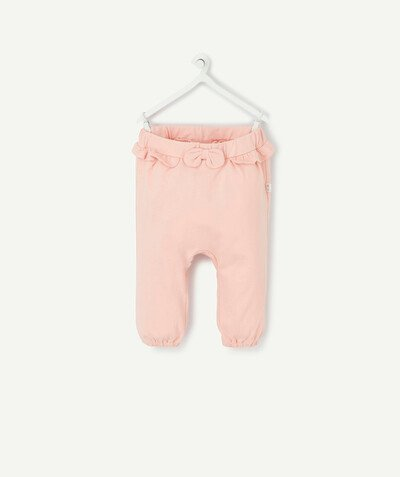 New collection radius - PINK JOGGING PANTS IN ORGANIC COTTON