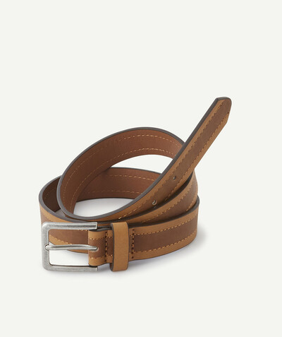 All collection Sub radius in - TWO-TONE CAMEL AND BROWN BELT IN IMITATION LEATHER