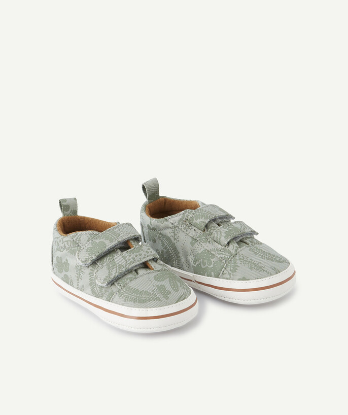Shoes, booties radius - KHAKI TRAINER-STYLE SHOES WITH A PRINTED DESIGN