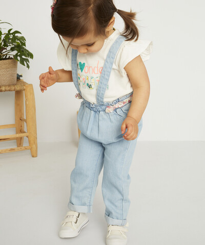 Spring looks ideas radius - BLUE CHINO TROUSERS IN ORGANIC COTTON WITH BRACES