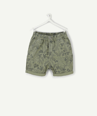 Shorts - Bermuda shorts family - KHAKI JUNGLE PRINT BERMUDA SHORTS