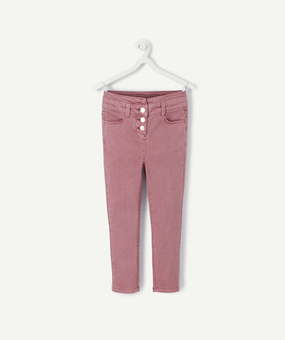 Pantalon - jogging Rayon - LE PANTACOURT SUPER SKINNY VIEUX ROSE EN TOILE DENIM