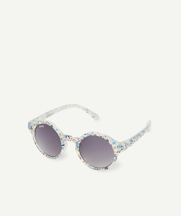 Accessories radius - ROUND TRANSPARENT AND FLOWER-PATTERNED SUNGLASSES