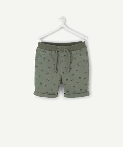Shorts - Bermuda shorts family - GREEN PRINTED BERMUDA SHORTS