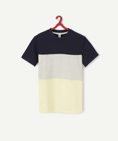 T-shirt radius - COLOUR BLOCK T-SHIRT IN ORGANIC COTTON PIQUE