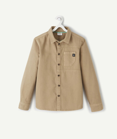 Shirt - Polo radius - BEIGE SHIRT IN COTTON