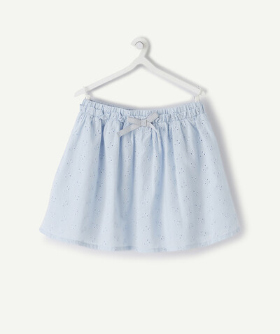 All collection radius - PALE BLUE CIRCLE SKIRT IN BRODERIE ANGLAIS