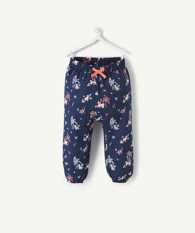 Spring looks ideas radius - NAVY BLUE PRINT HAREM PANTS IN A COTTON BLEND
