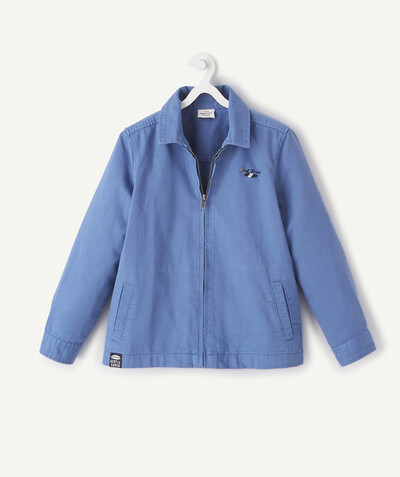 Nouvelle collection Rayon - LA VESTE BLEUE ZIPPÉE EN COTON