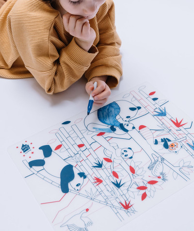 Toute la collection Rayon - SUPER PETIT® - LE SET DE TABLE À COLORIER EFFAÇABLE PANDA