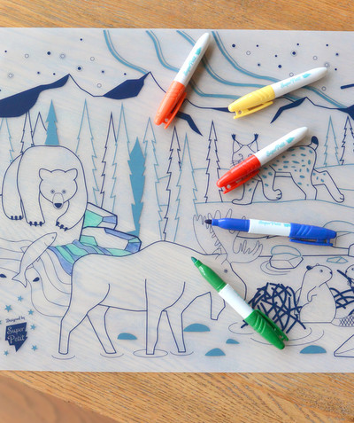 All Collection radius - SUPER PETIT® - FOREST ERASABLE PLACEMAT TO COLOUR