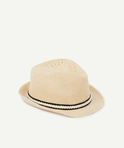 Special Occasion Collection radius - STRAW TRILBY HAT WITH A BLUE BAND