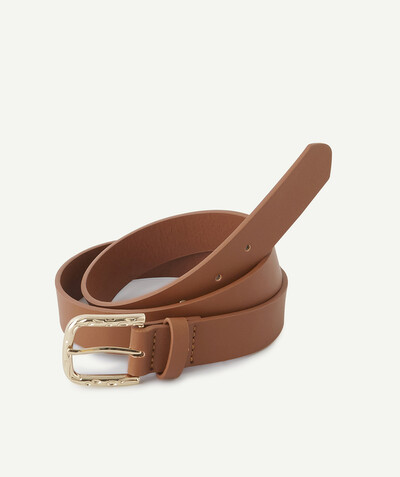 All collection radius - SMOOTH BROWN BELT IN IMITATION LEATHER