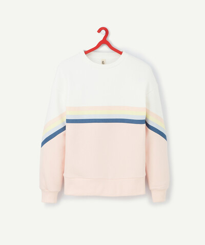 Le confort du molleton Rayon - LE SWEAT COLOR BLOCK PASTEL