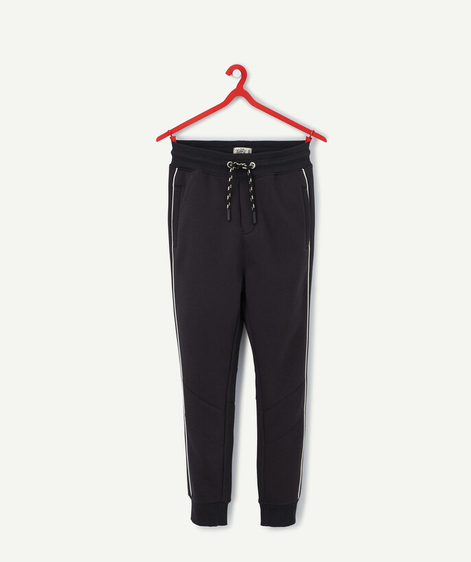 Trousers - Jeans radius - BLACK JOGGING PANTS IN ORGANIC COTTON