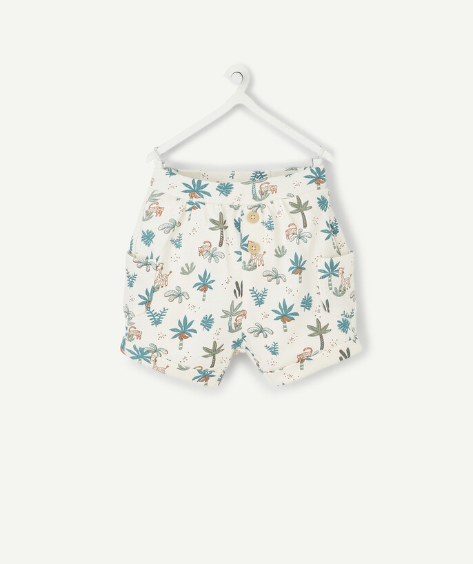 Newborn Boy radius - JUNGLE PRINT SHORTS IN ORGANIC COTTON