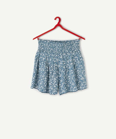 All Collection radius - GREEN HIGH-WAISTED FLOWER-PATTERNED SHORTS