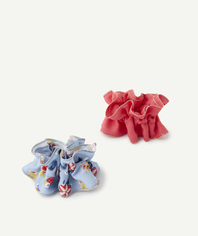 Spring looks ideas radius - TWO HAIR SCRUNCHIES, FINE, PLAIN AND FLOWER-PATTERNED