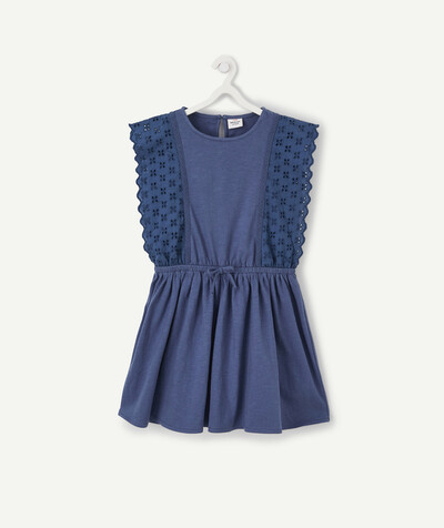 All Collection radius - BLUE DRESS WITH BRODERIE ANGLAIS