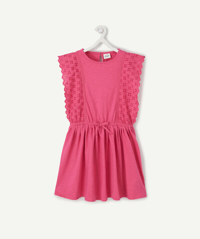 Dress radius - FUCHSIA PINK SKATER DRESS WITH BRODERIE ANGLAIS