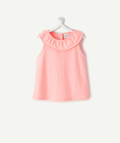 ECODESIGN radius - PINK T-SHIRT IN ORGANIC COTTON WITH FRILLS