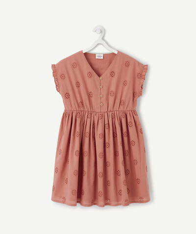 Dress radius - TERRACOTTA DRESS WITH BRODERIE ANGLAIS