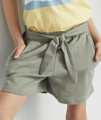 All Collection radius - KHAKI SHORTS IN ORGANIC COTTON