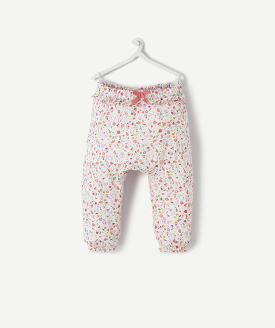 All collection radius - HAREM PANTS IN FLOWER-PATTERNED COTTON