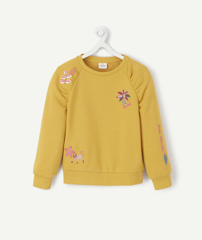 All Collection radius - SWEATSHIRT IN YELLOW FLEECE