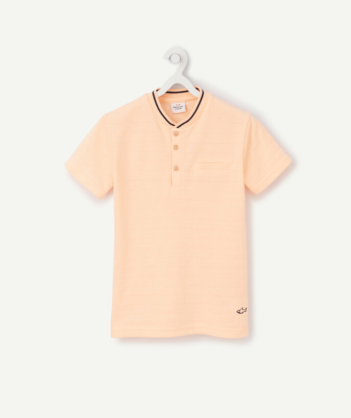 Nouvelle collection Rayon - LE T-SHIRT ORANGE FLUO EN COTON PIQUÉ