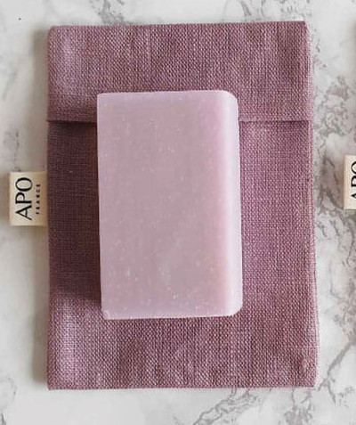 All accessories radius - APO® - LILA COATED LINEN SOAP POUCH