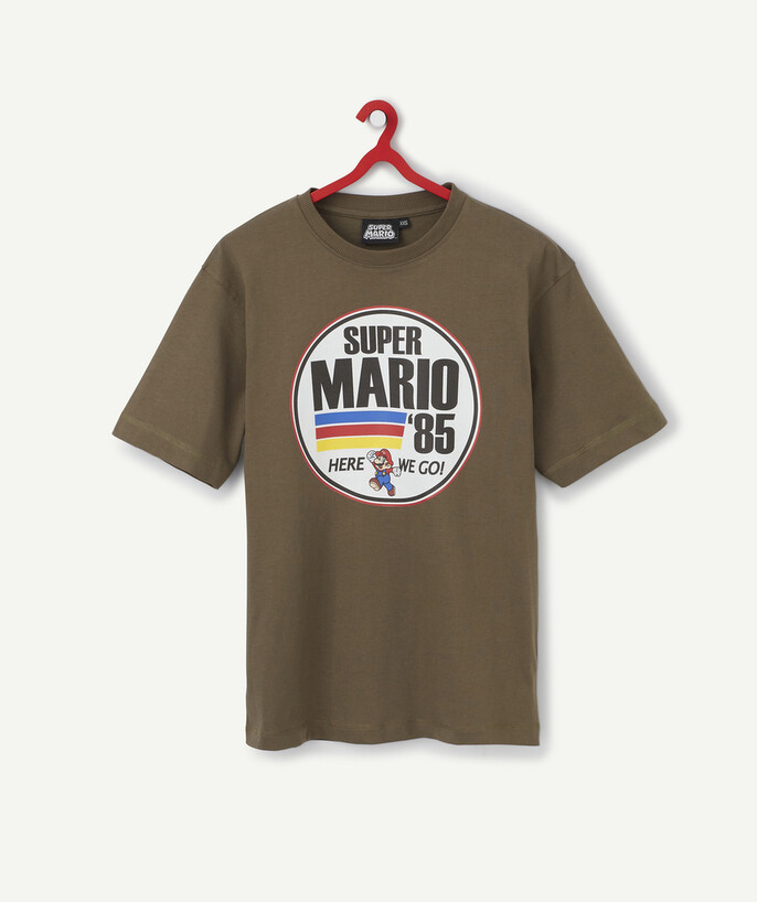 Nouvelle collection Rayon - LE T-SHIRT KAKI SUPER MARIO EN COTON BIOLOGIQUE