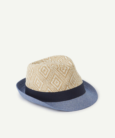All collection radius - TRILBY HAT IN STRAW AND COTTON
