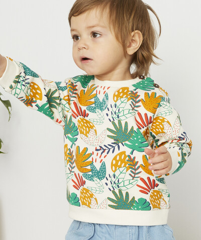 All collection radius - WHITE JUNGLE PRINT SWEATSHIRT IN ORGANIC COTTON